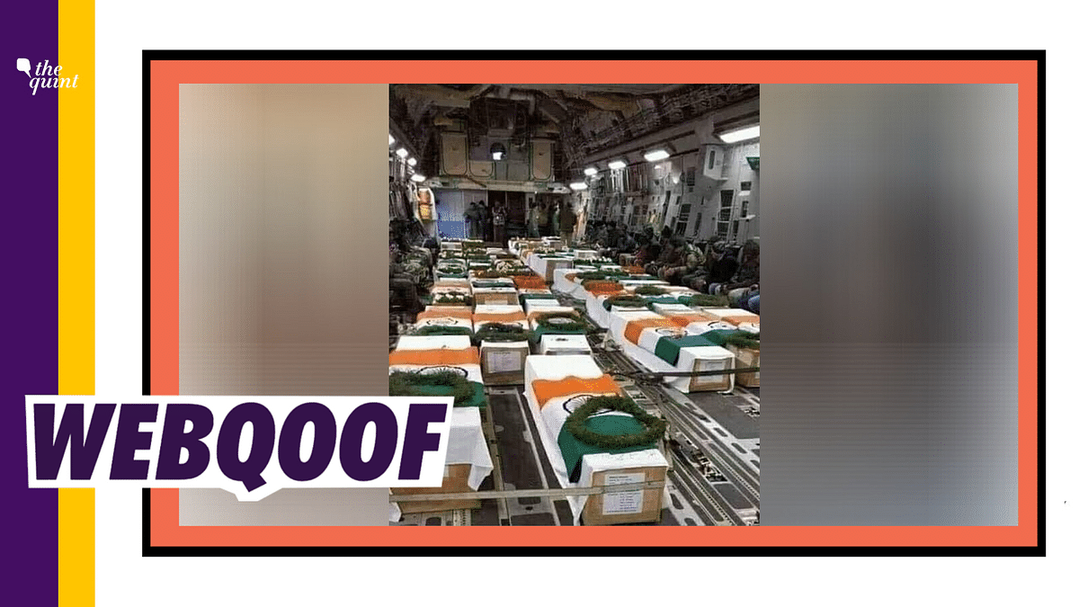 Many people shared this photo of the coffins wrapped in the Indian flag in the aftermath of the Galwan face-off.