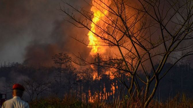 Assam oil well fire engulfs nearby villages. Image used for representational purposes.