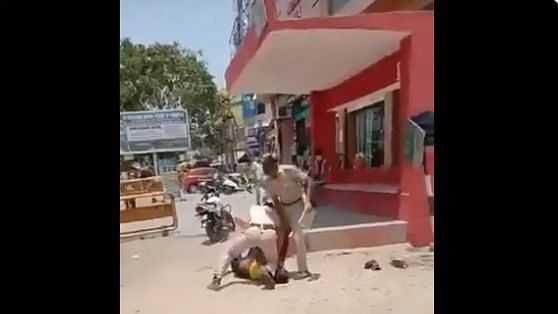 In Viral Vid, Jodhpur Cop Kneels on Man's Neck for Not Using Mask