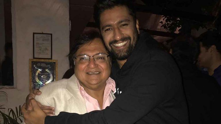 Actor Rakesh Bedi with Vicky Kaushal.
