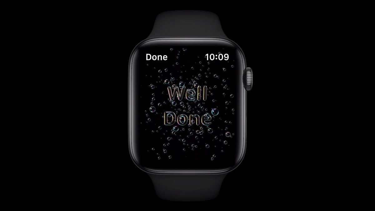 There is a new hand wash feature in the new watchOS.