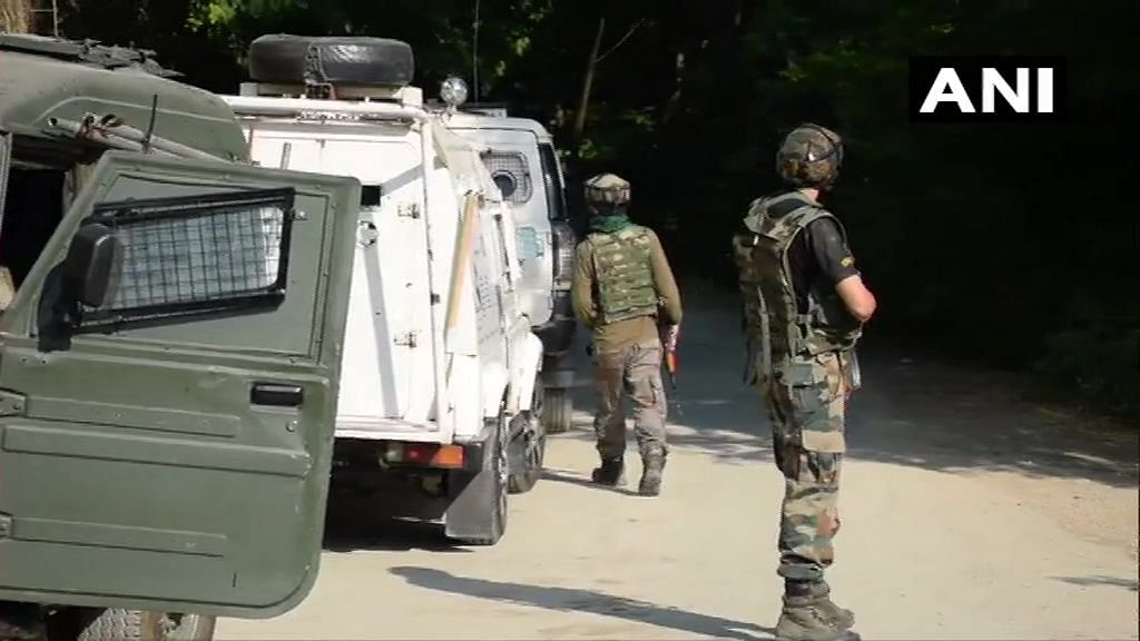 One terrorist was killed in Meej village of Awantipora, after which two others had taken refuge inside a mosque.