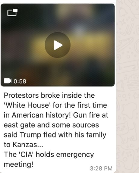 No, This Video Doesn't Show George Floyd Protesters at White House