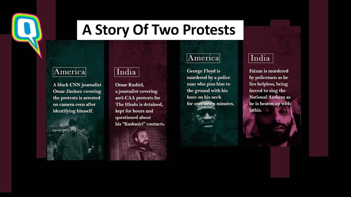 Protests in India vs protests in America