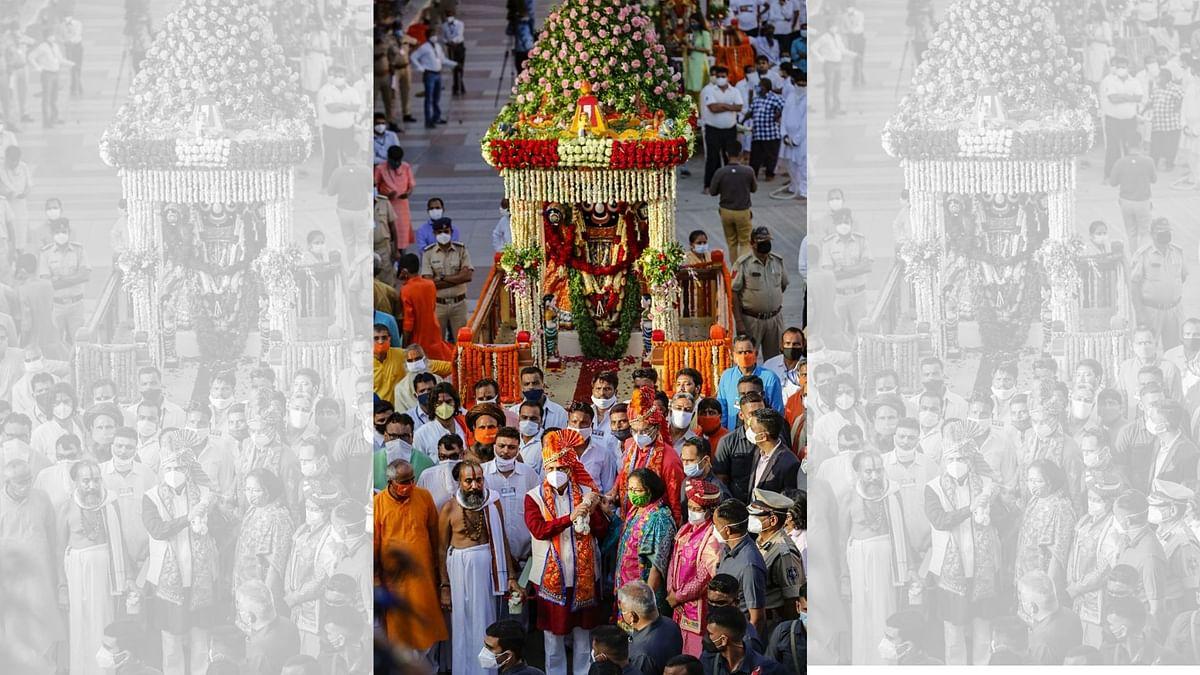 Unlike Puri, Jagannath Yatra in Ahmedabad Held in Temple Premises