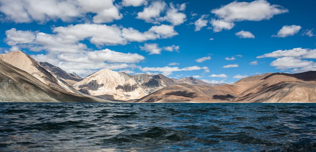 "A view of <a href=""https://commons.wikimedia.org/wiki/Category:Pangong_Tso"">Pangong Tso</a>"