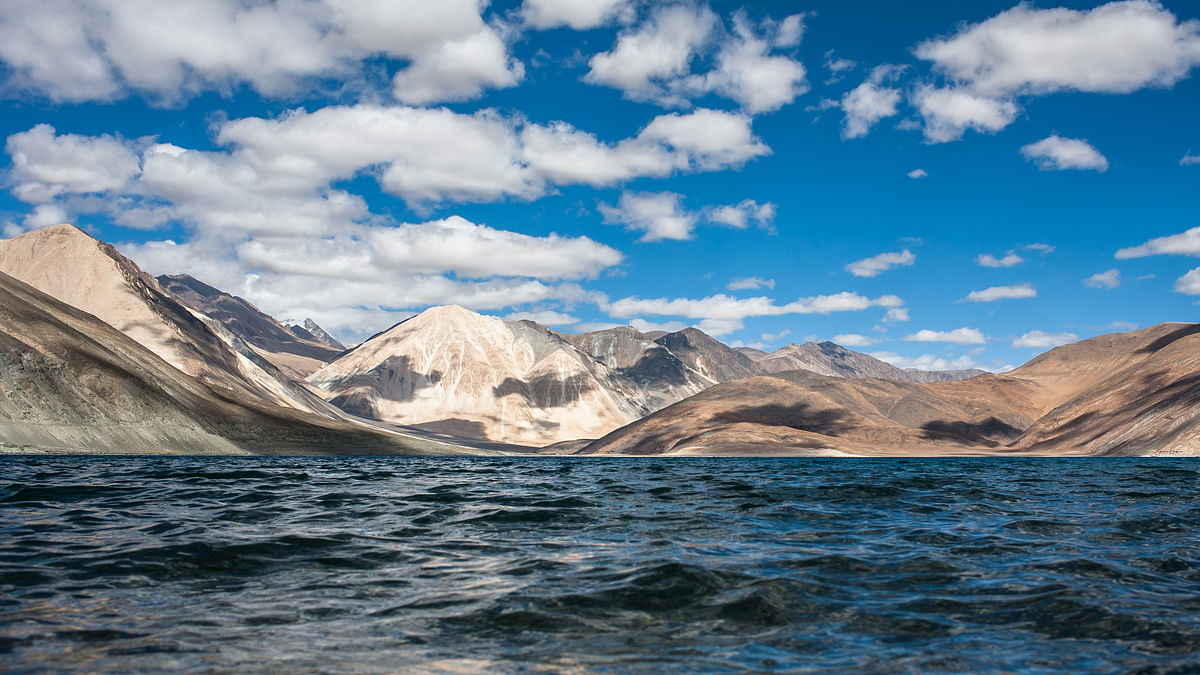 The inscriptions fall between finger 4 & 5 of the disputed area near Ladakh's Pangong Tso.
