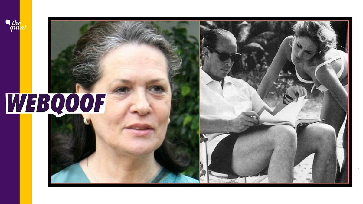 No, That's Not Congress Leader Sonia Gandhi's Old Image