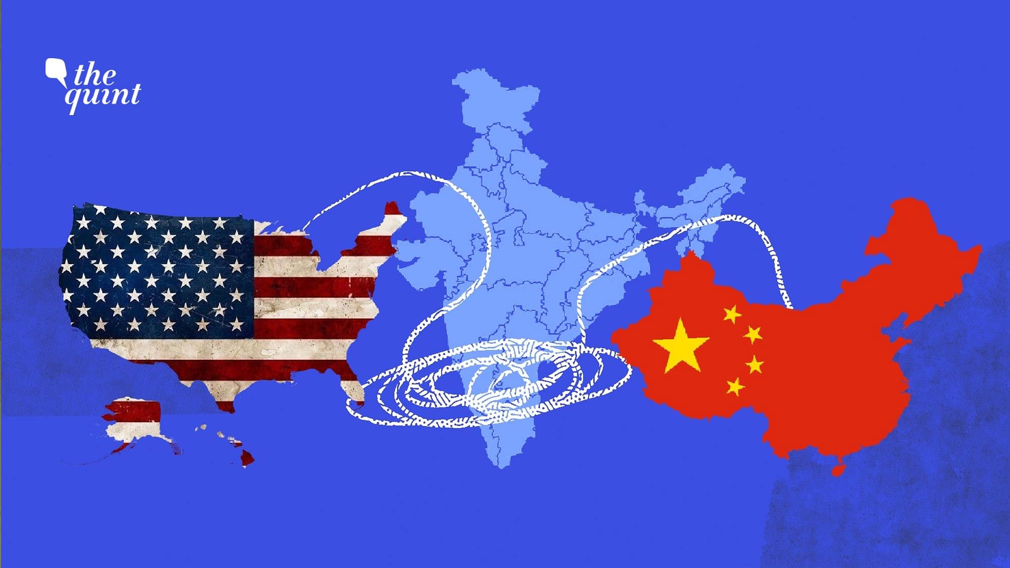 """<a href=""""https://www.thequint.com/news/world/trump-calls-india-air-filthy-twitter-reacts"""">The United States</a> is monitoring the India-China standoff in Ladakh, and sharing information with New Delhi."""