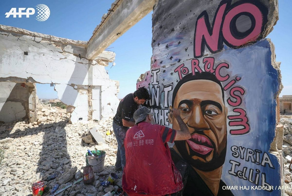 George Floyd Mural in Syria Makes a Powerful Statement