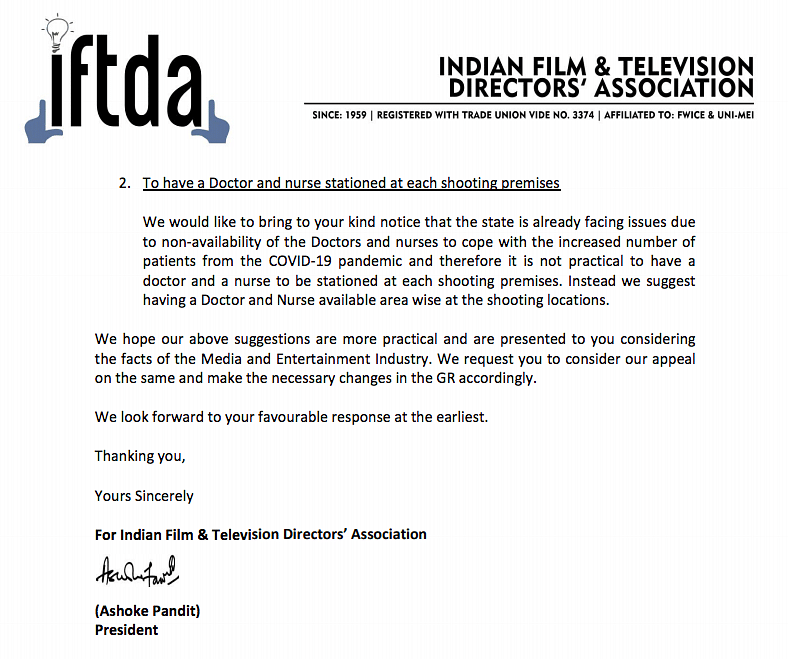IFTDA Writes to Maha CM, Requests Revising 'Senior Actors' Clause