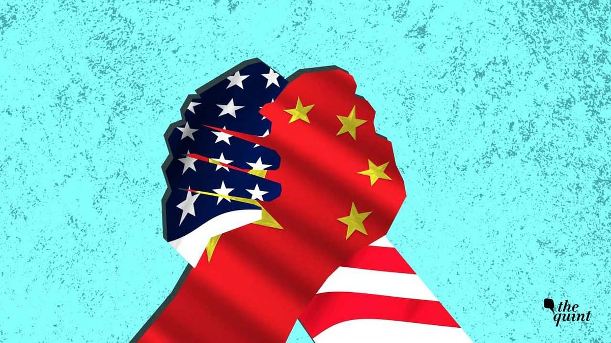 Stylised illustration of US and China flags used for representational purposes.