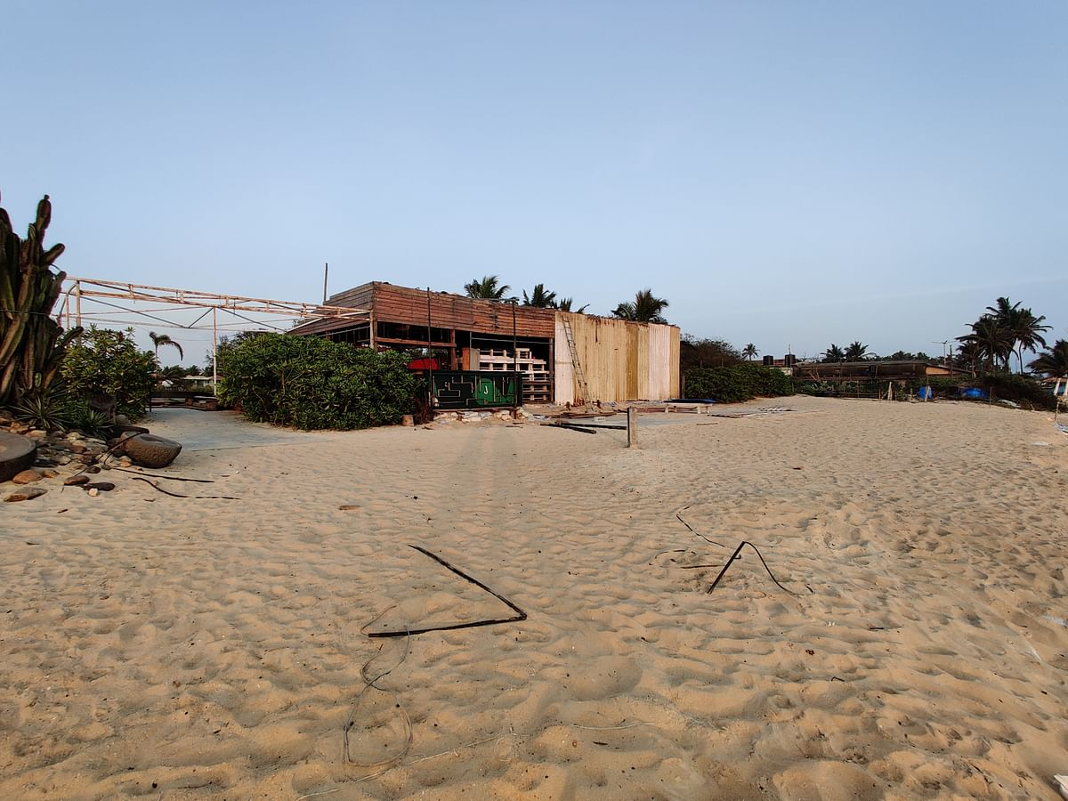 An empty beach shack in Goa.