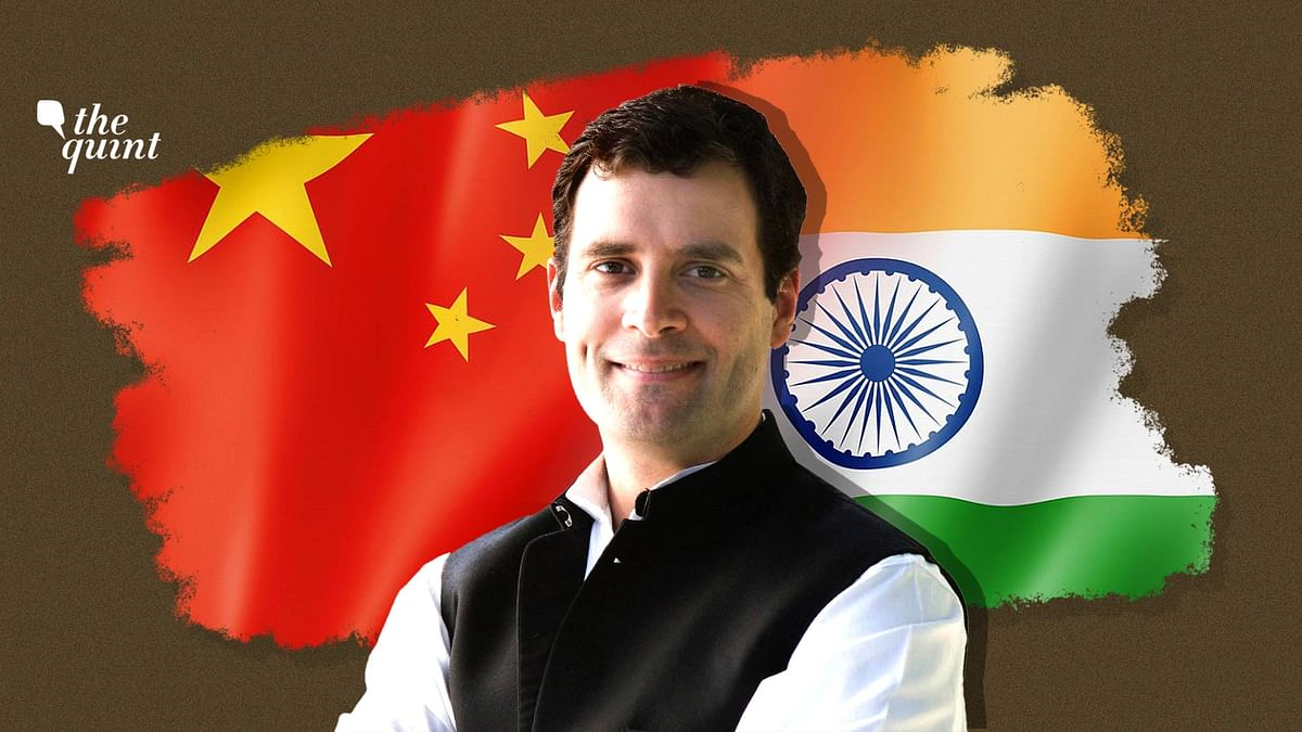 Image of Rahul Gandhi and India and China flags used for representational purposes.