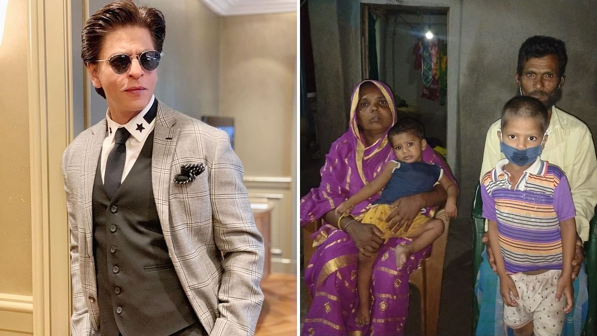 Shah Rukh Khan comes to the help of a child.