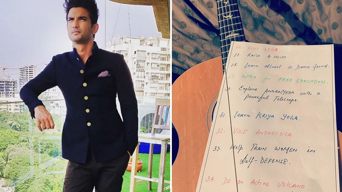 Sushant Singh Rajput's '50 Dreams' Widely Shared on Social Media