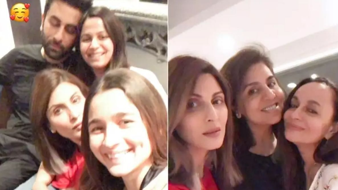 Alia, Ranbir, Riddhima Kapoor Come Together for Family Night