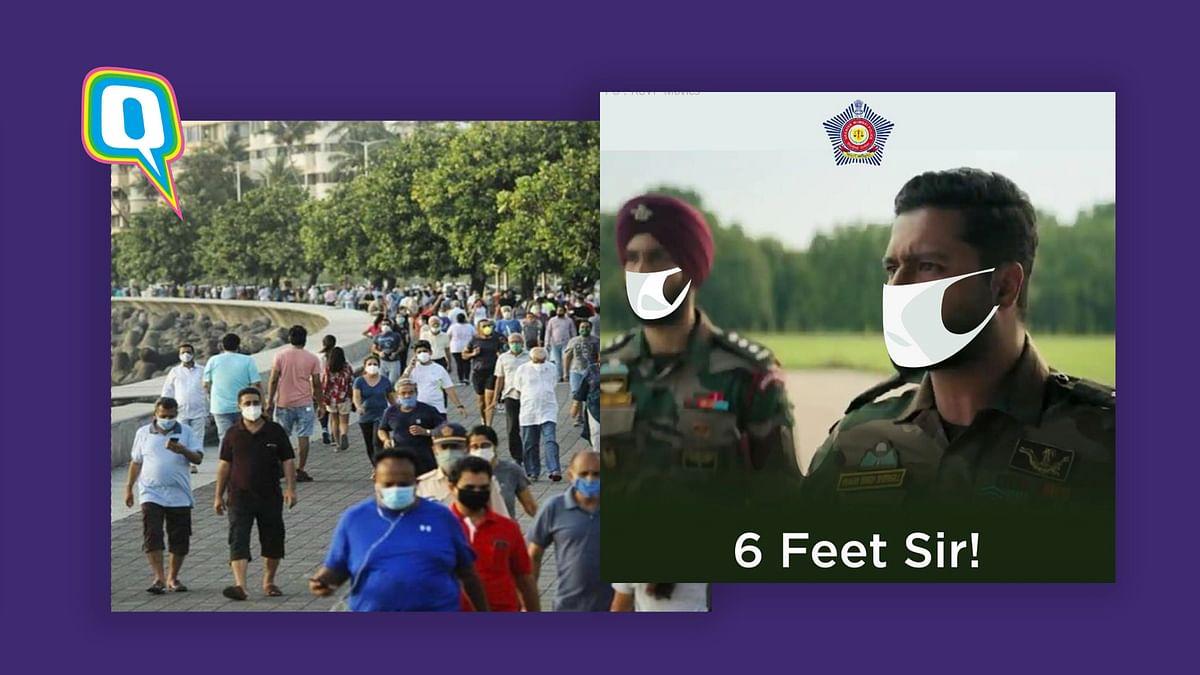 Mumbai police meme is a reminder of practising social distancing post lockdown