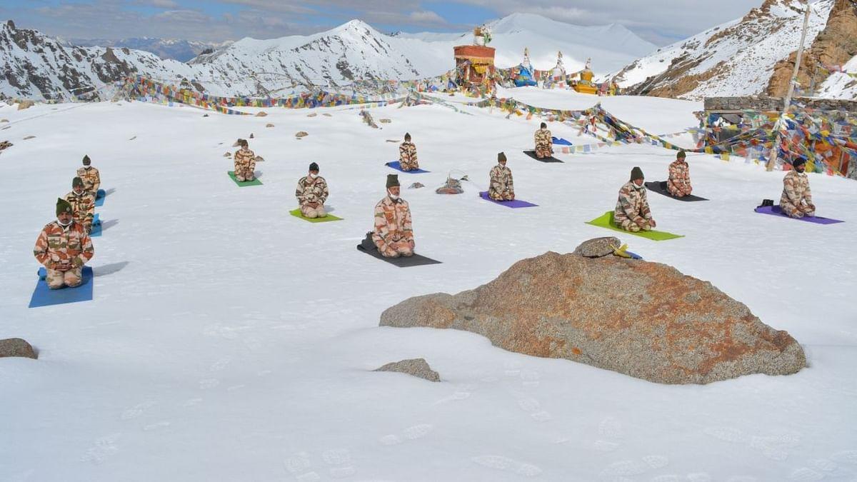 In Dangerous Terrain, ITBP Himveer Jawans Celebrate Int'l Yoga Day