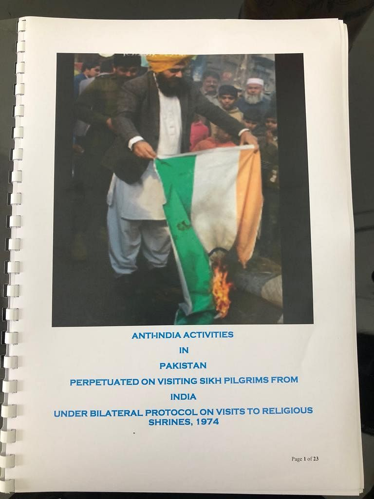 The dossier New Delhi shared with Islamabad in August 2019, about Khalistani anti-India propaganda led by Gopal Singh Chawla.