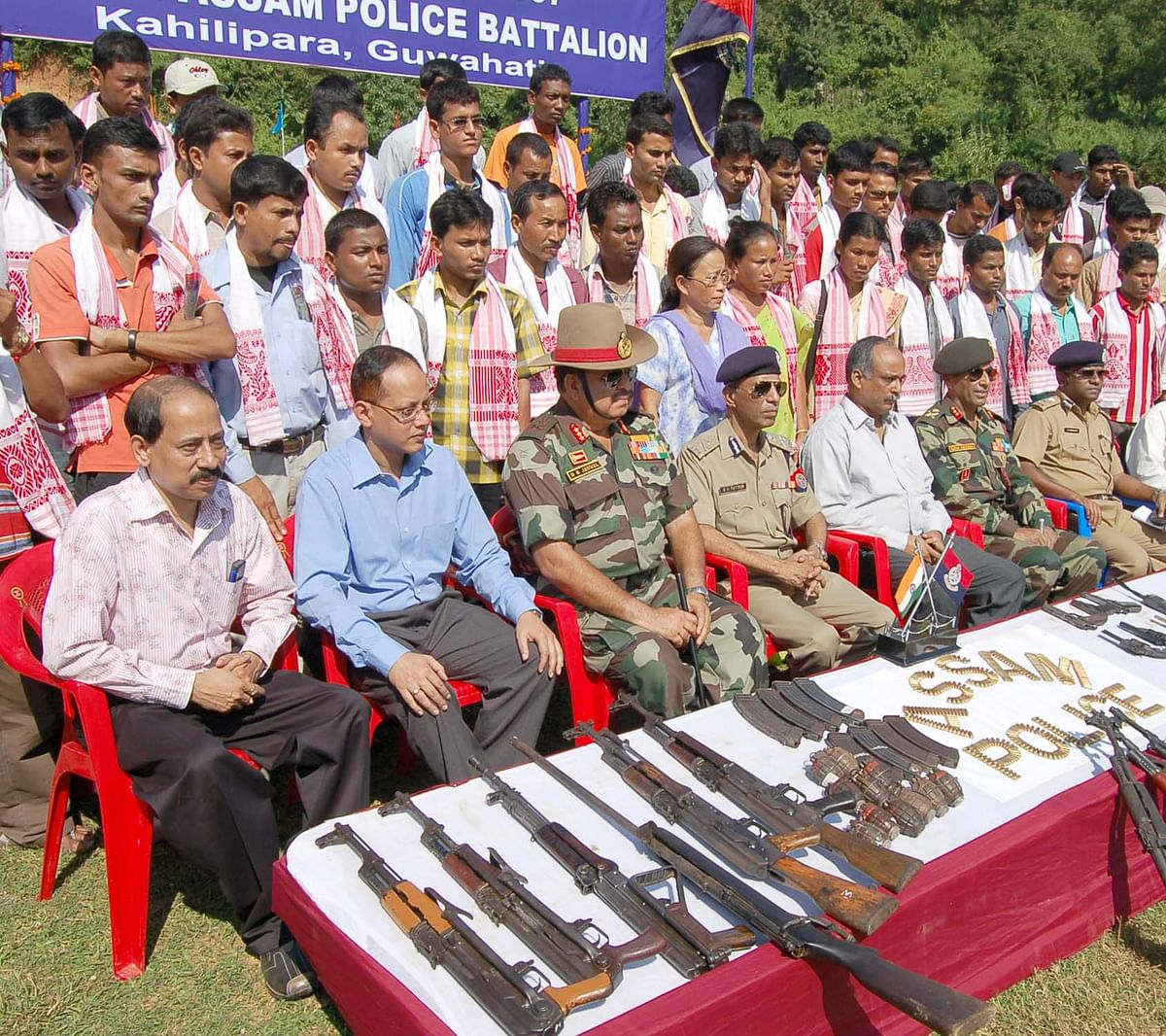 Surrender of ULFA cadres with Weapons in Guwahati ( 2007)