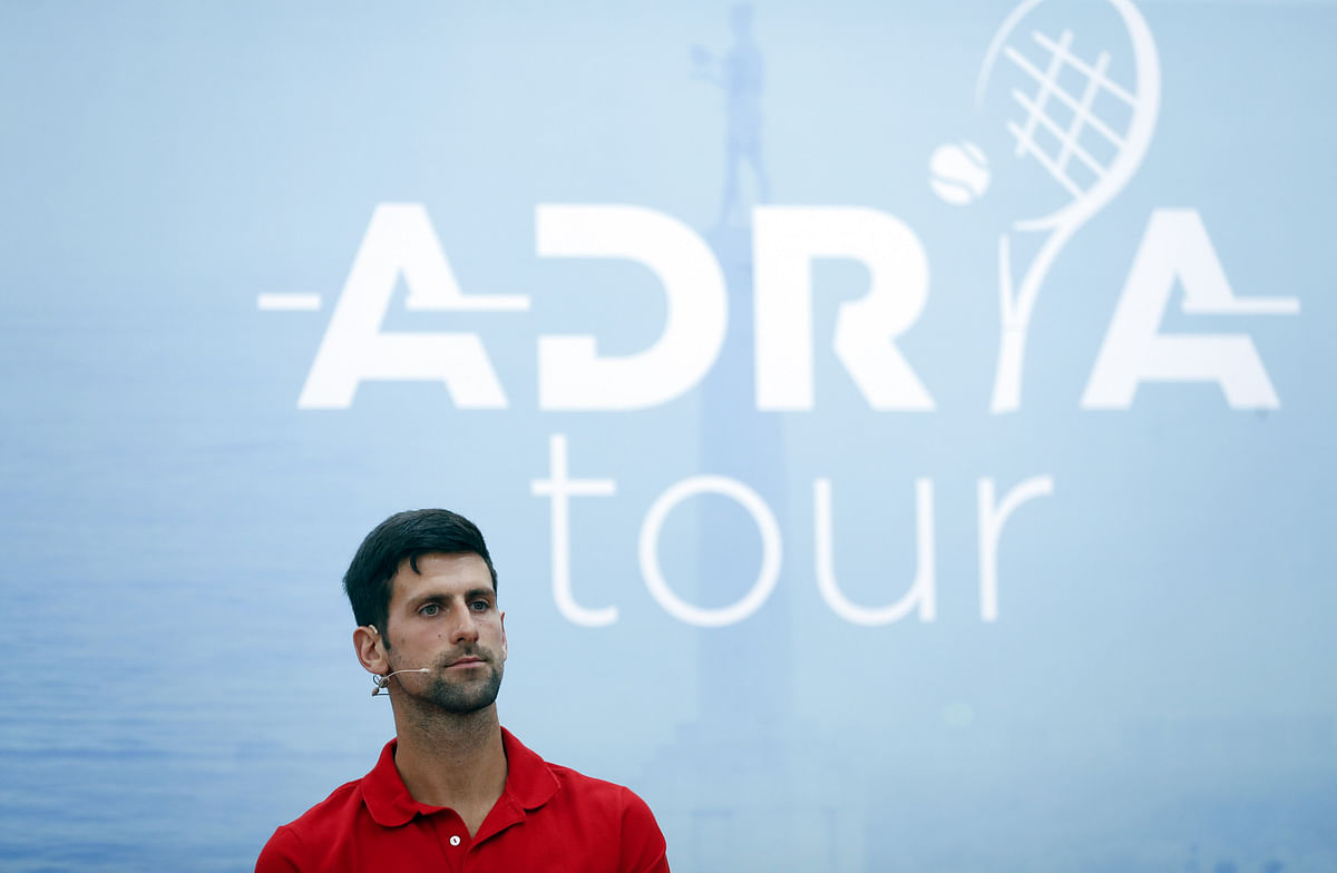 Novak Djokovic is being pulled up by fellow players for his role in the Adria Tour.