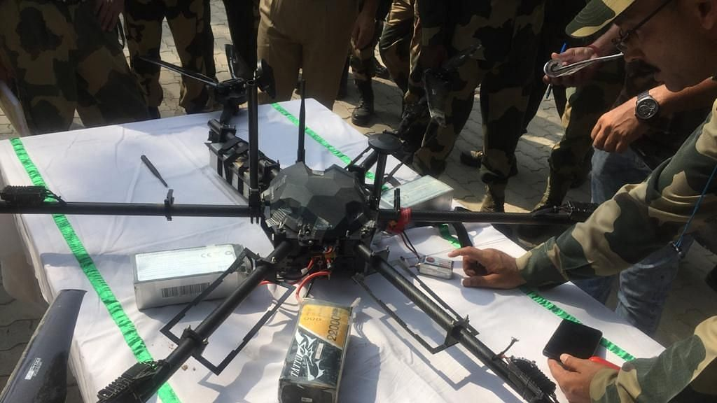 BSF Shoots Down Pak Drone Carrying Weapons in J&K's Kathua