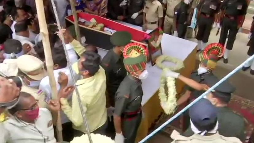 Crowd Salutes as Colonel Bikkumalla Santosh Babu is Laid to Rest