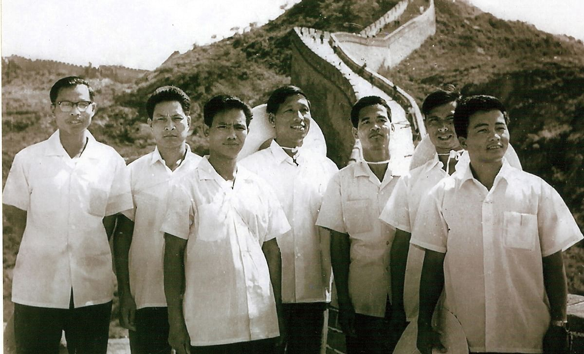 Members of the Naga National Council (NNC) in China during a training programme.