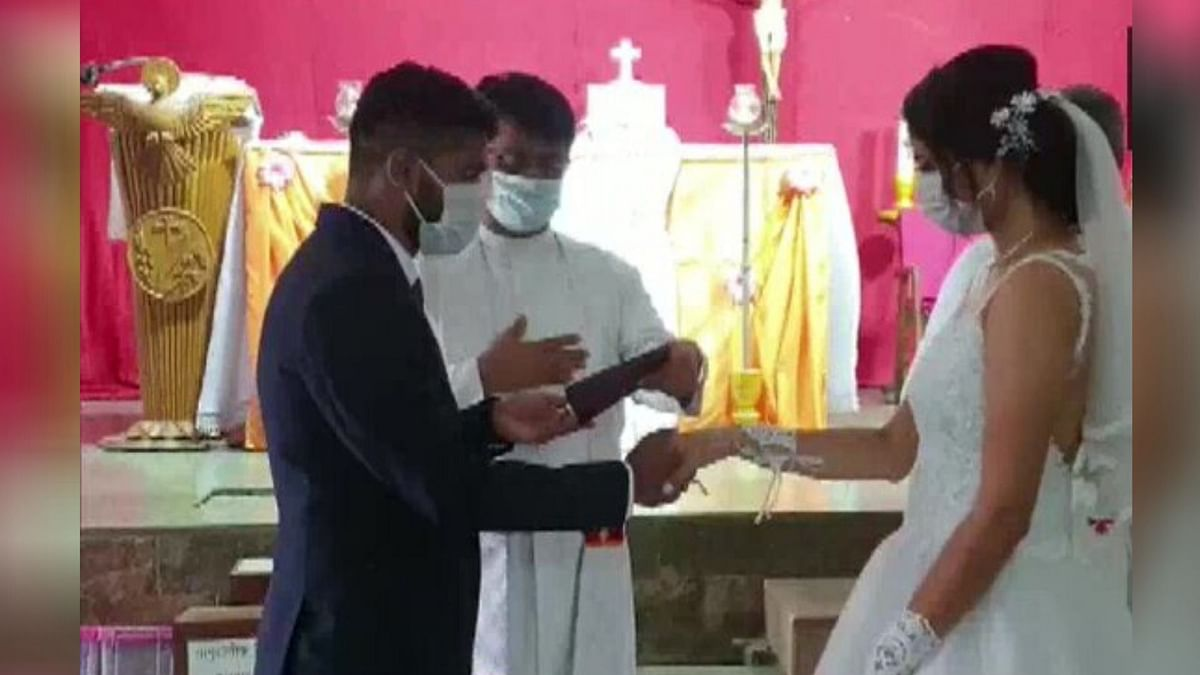Couple finds a unique way to celebrate wedding day!