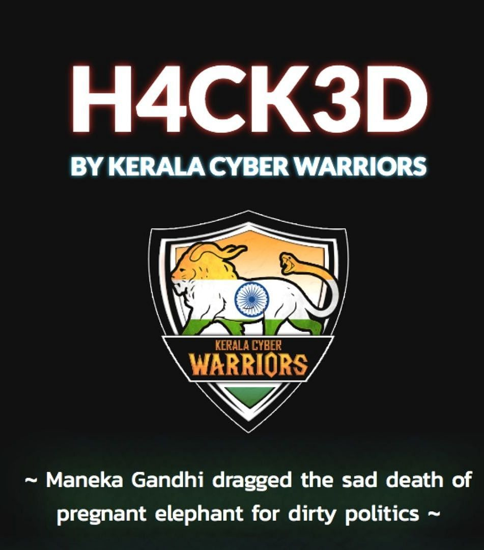 The website of People For Animals hacked by a group from Kerala.