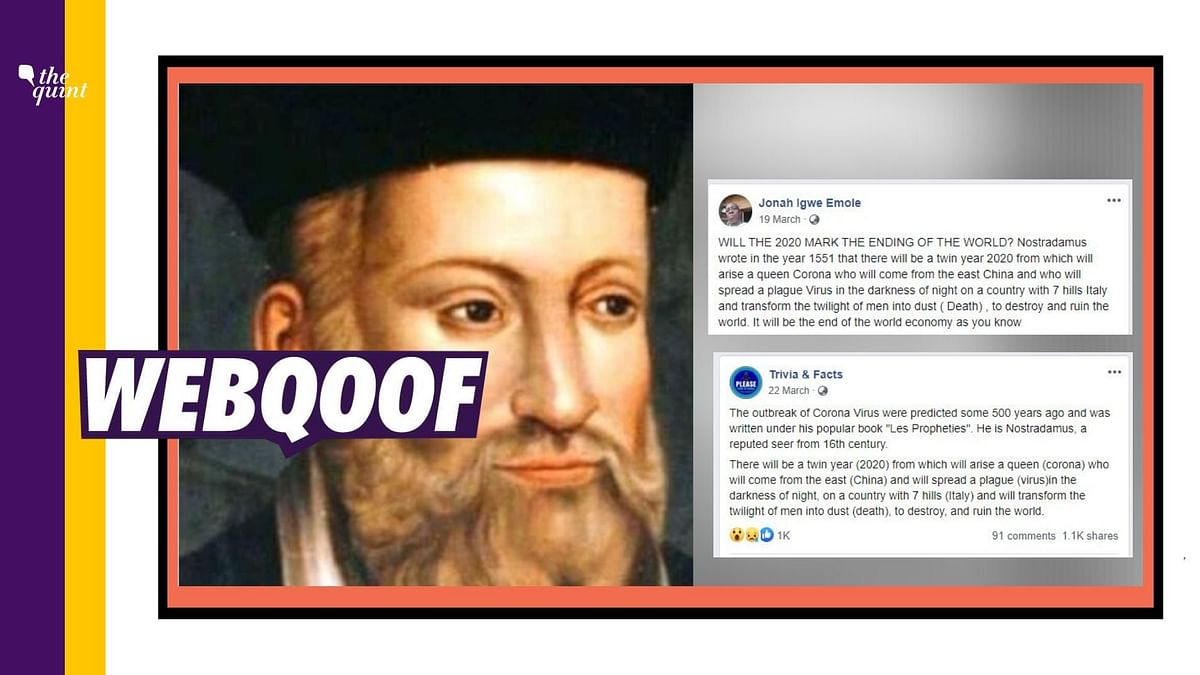 No, Nostradamus Did Not Predict The Spread of Novel Coronavirus