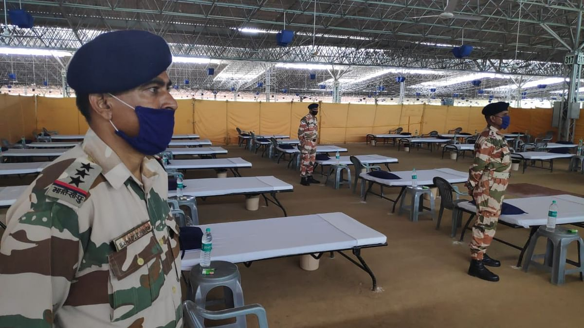 COVID care centre at Radha Soami Beas in Chattarpur, New Delhi