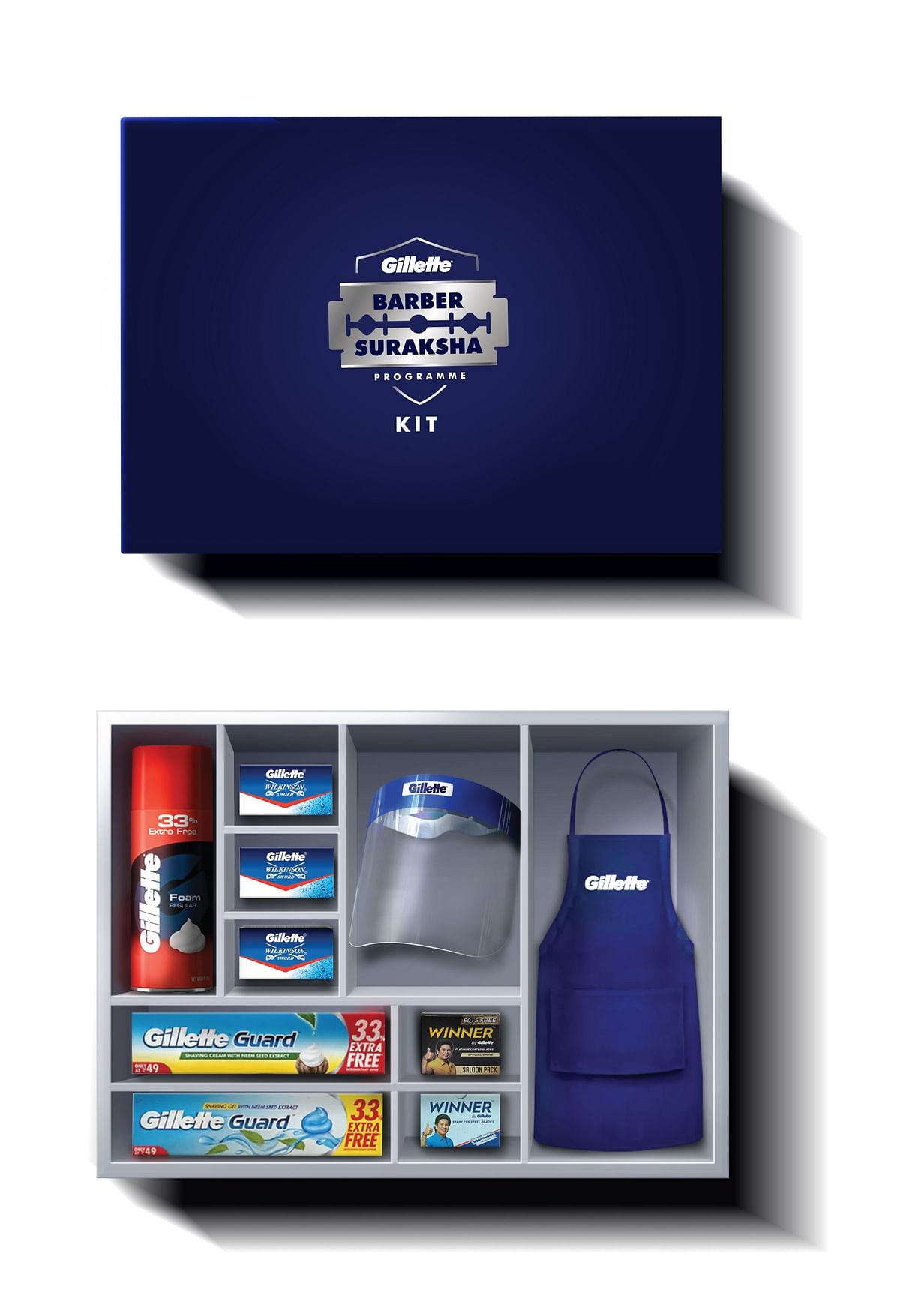 This is what a Gillette Suraksha kit looks like.