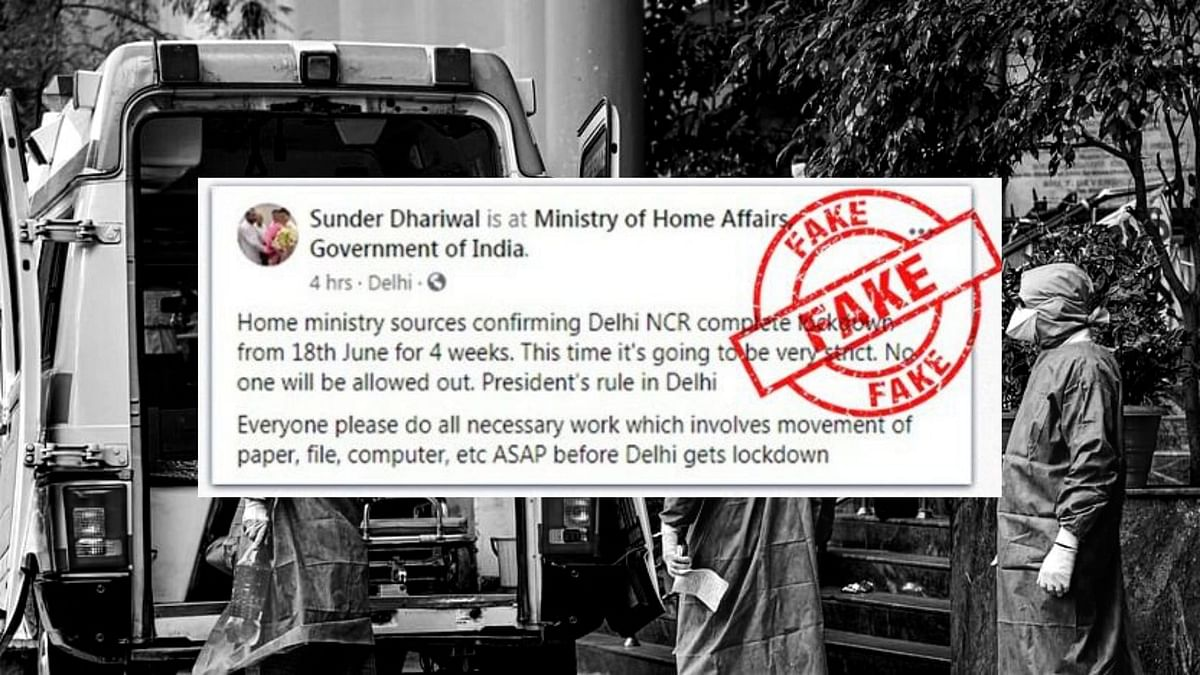 'Fake': Home Ministry On Rumours of Complete Lockdown in Delhi-NCR