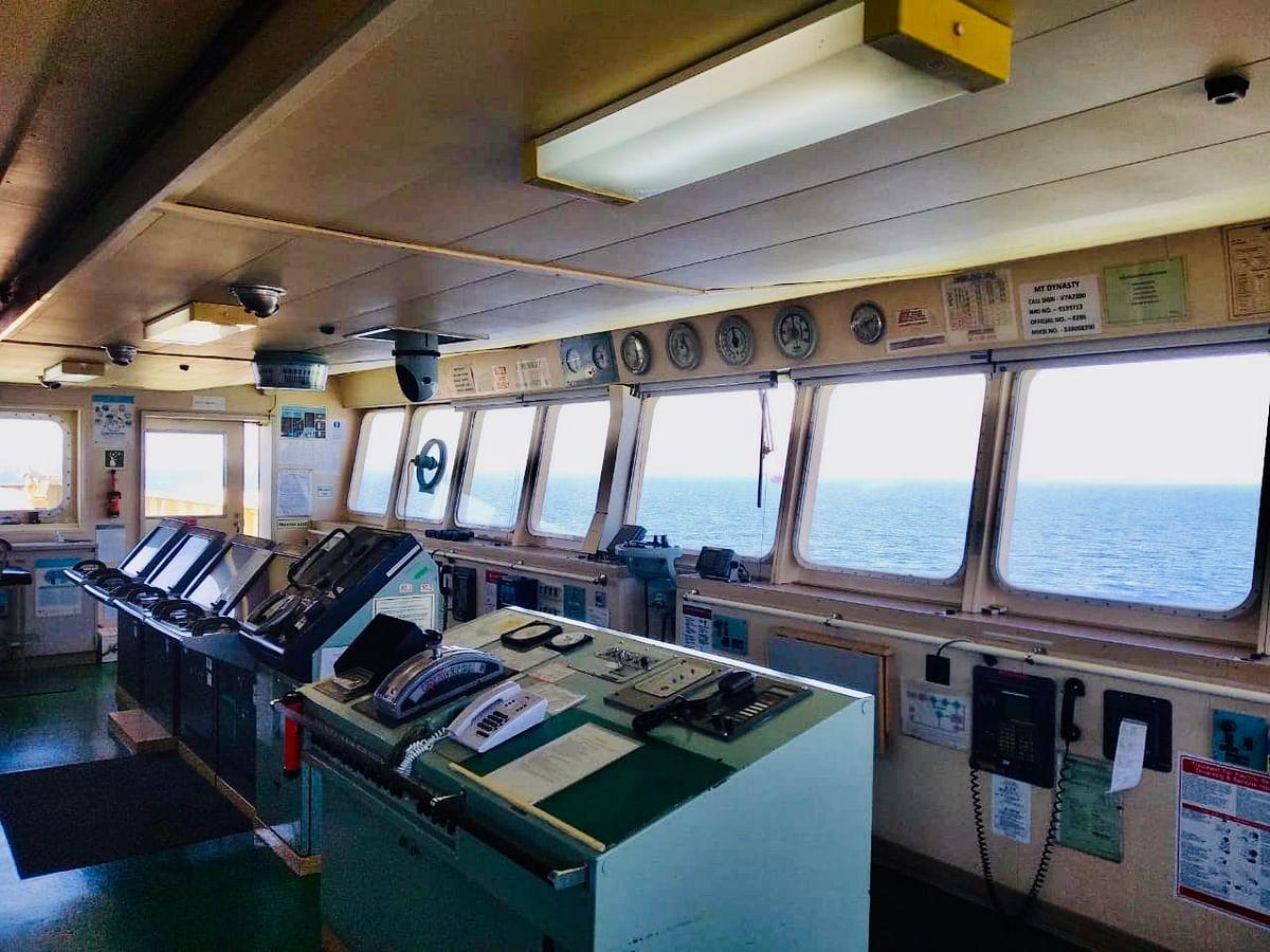 Control room at sea.