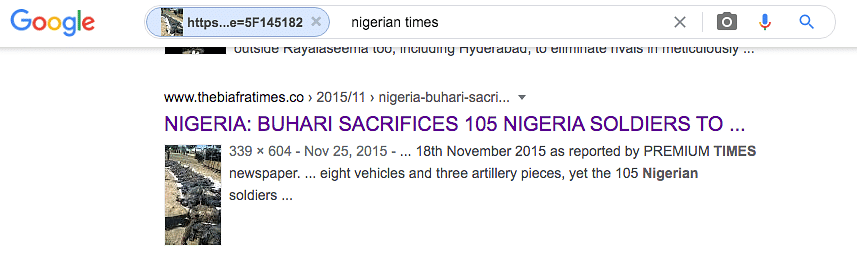 We reverse searched the image again using relevant keywords and found an article by The Biafra Times.