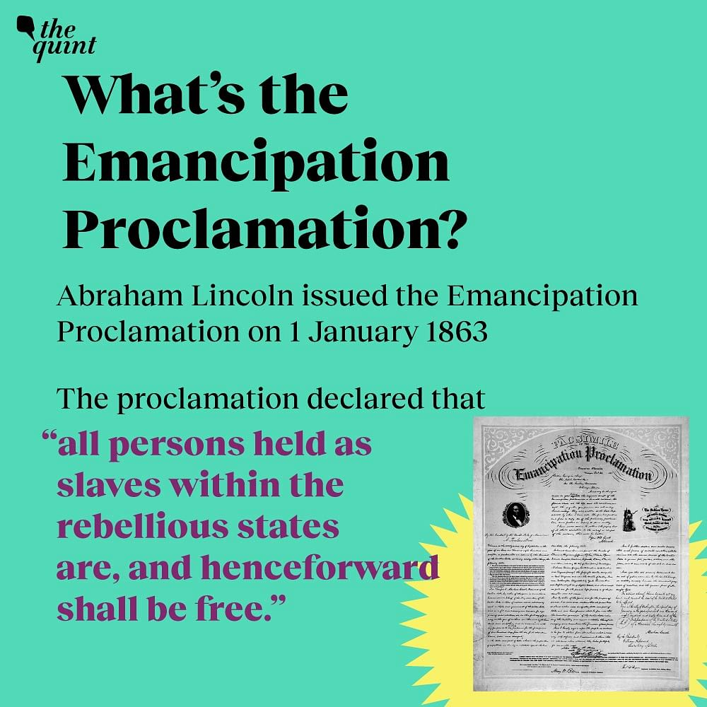 What's the emancipation proclamation?