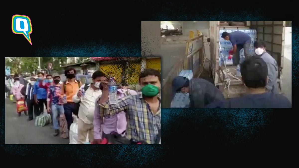 Volunteers at Ismaili Kurla Jamat Khana Help Migrants With Water