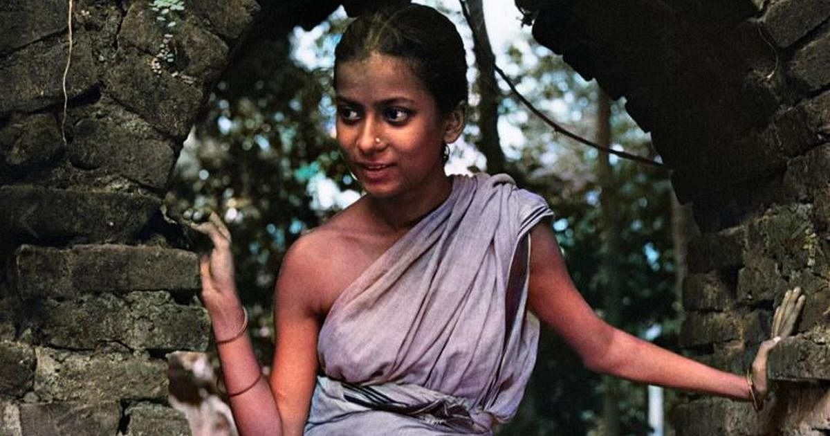 A still from the colourised <i>Pather Panchali</i>.