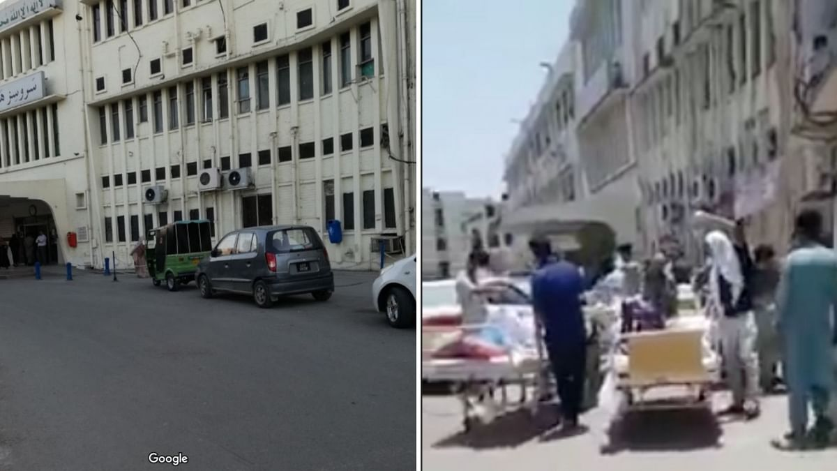 Photo uploaded on Google maps (left), screengrab of viral video (right)