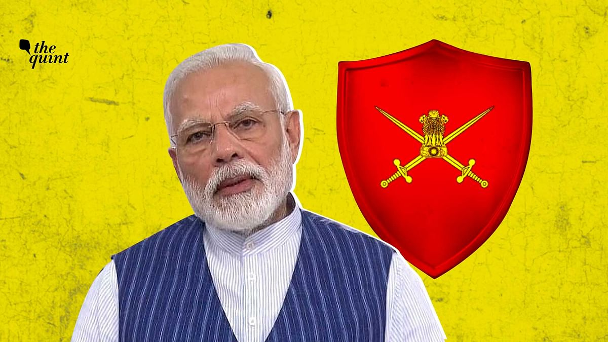 Image of army symbol & PM Modi used for representational purposes.