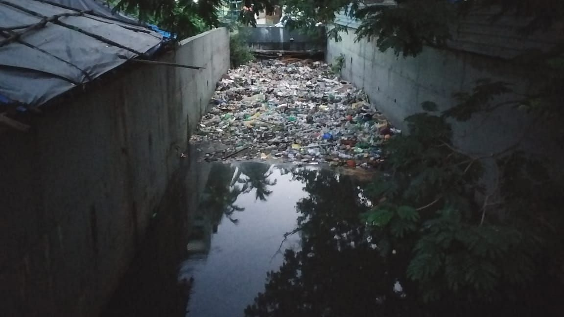 Picture taken at the stormwater drain in Marol village on 4 June 2020