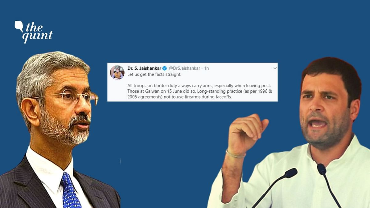Jaishankar Tells Rahul to 'Get Facts Straight' on Galwan Face-Off