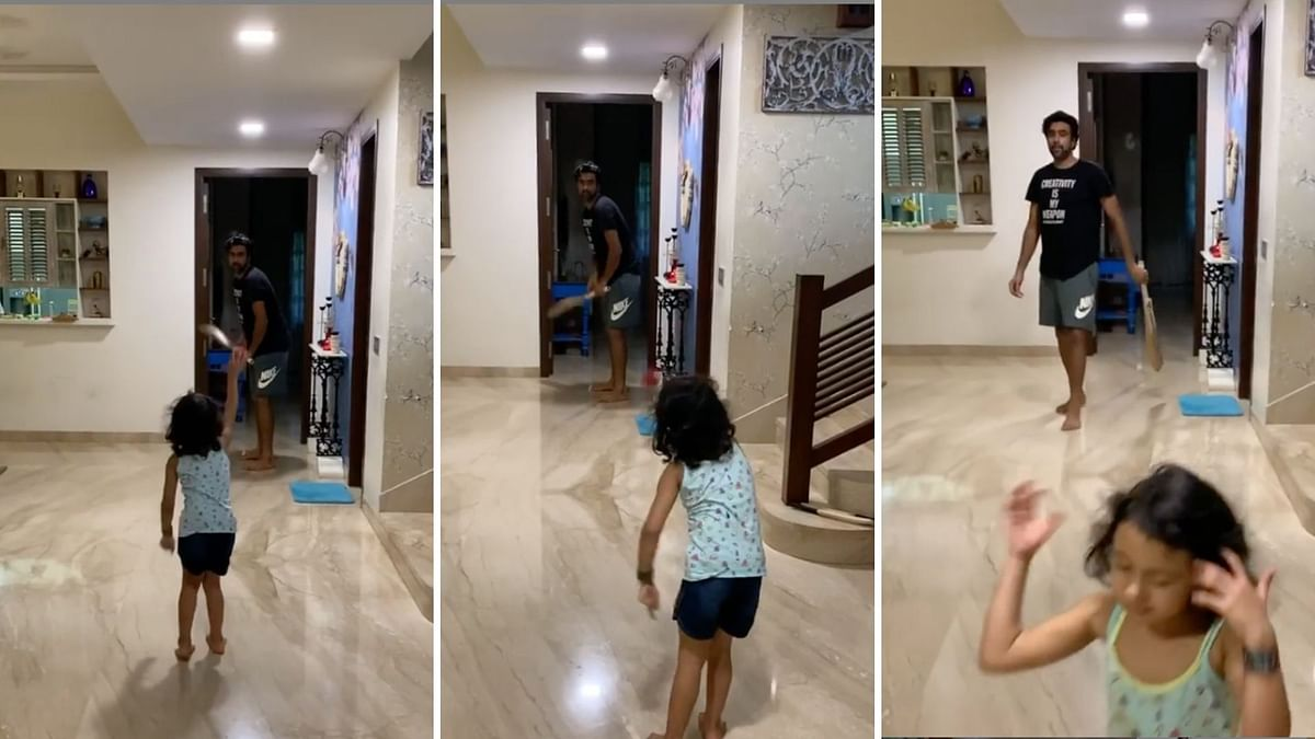 Catch Them Young: Ashwin's Daughter Gives Him 'Throwdowns'