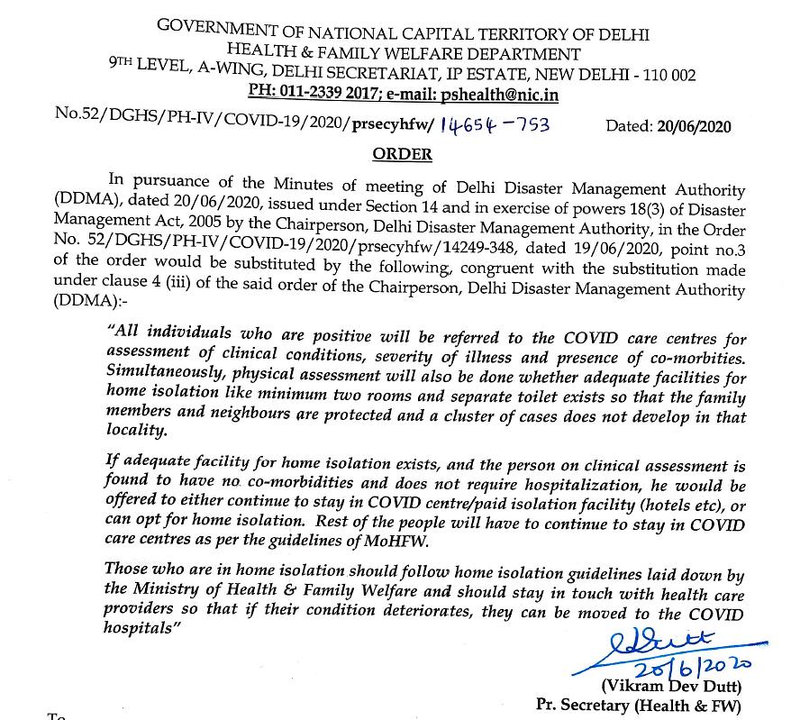 'Institutional Quarantine Not Mandatory for COVID Cases': Delhi LG