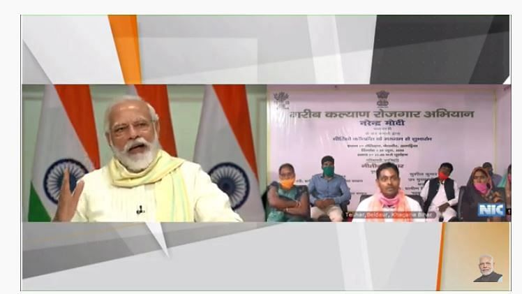 PM Modi Launches Employment Guarantee Scheme For Migrant Workers