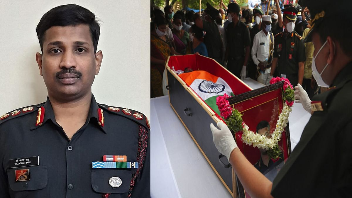 Late Col Santosh Babu laid to rest in Telangana's Suryapet.