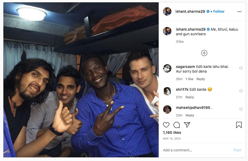 Ishant's Insta Post Calling Sammy 'Kalu' Corroborates His Claim